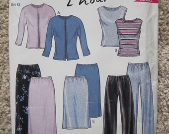 UNCUT Misses Top, Pants and Skirt - Size 8 to 18 - Simplicity Sewing Pattern 6150