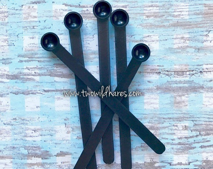 20-BLACK MICA SPOONS 0.15cc, Mica/Dye Scoop, Tiny Spoon, Two Wild Hares