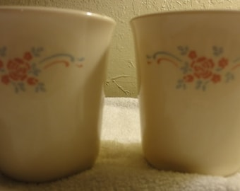 Two Vintage Corning Mugs