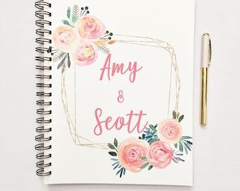Livre personnalisé de planificateur de mariage, cadeau de fiançailles pour la mariée, livre de planification de mariage personnalisé, liste de mariage, liant de mariage, personnalisés