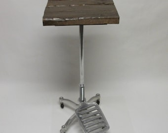 Industrial Rustic Accent Laptop Table Mannequin Assemblage