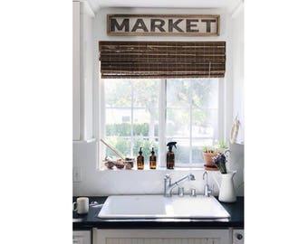 Market // 36 x 6 Handmade Sign