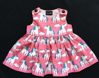Skeletots Pink unicorn baby girl dress ages 0-24m