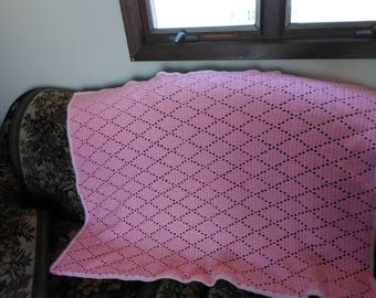 Speh Crocheted Diamond stitched blanket