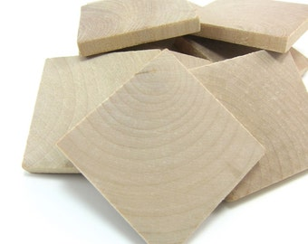 """2"""" Unfinished Wooden Square Tiles (50mm)"""