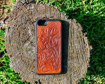 Hand tooled Leather iPhone 6 case
