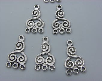 10 charms 21 mm x 12 mm brass chandelier