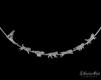 Siberian Husky Team necklace - sterling silver