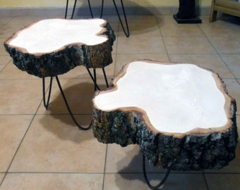 Wood coffee table, coffee table, birch, birch table table, round table, round table