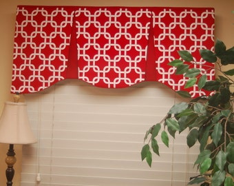 "Custom Made Valance EMILEE  Hidden Rod Pocket® Valance fits 30""- 44"" window, You provide the fabrics, I provide the LABOR and lining"