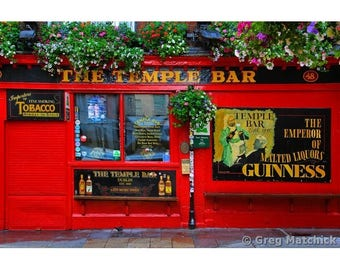 "Fine Art Color Irish Travel Photography of The Temple Bar in Dublin Ireland - ""The Temple Bar 2"""