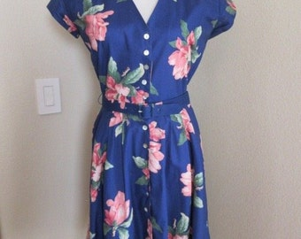 """Vintage 1980's 'Carol Anderson' Dress MADE IN USA - Chest 40"""" - Lovely!!"""