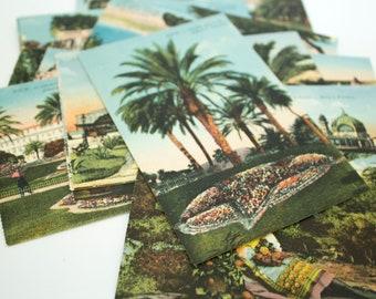 Nice France Postcard Lot, Old Postcards, French Ephemera, Vintage Postcard, French Postcard, Vintage Ephemera,