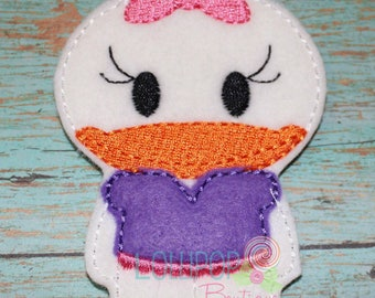 Girly Duck Finger Puppet, Felt Finger Puppet, Finger Puppet, Imaginative Play, Quiet Play, Pretend Play, Puppets, Duck Finger Puppet