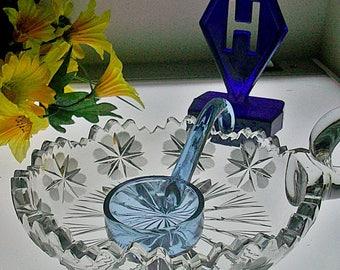 Vintage HTF Hallmarked Heisey Mayonnaise Ladle ~ ALEXANDRITE! ~ Free Shipping & Insurance