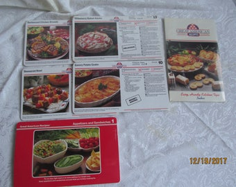 Great American  Recipes  Cards  lot of  6   - NIP // Cook // Cooking // Recipes