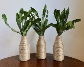 twine bud vase