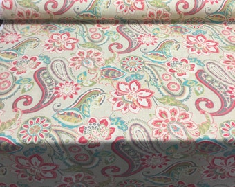 Wild Card Bloom Waverly Paisley Design Fabric by the yard Multipurpose