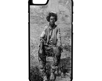 Nat Turner iPhone Galaxy Note LG HTC Protective Hybrid Rubber Hard Plastic Snap on Case Black