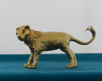 Lion Figurine in gold