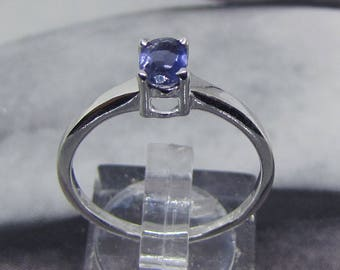 Ring Sterling Silver 925 topped Iolite size 58