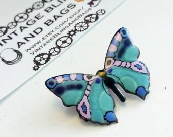 Vintage enamel butterfly brooch, butterfly pin, vintage butterfly brooch, vintage butterfly pin, butterfly scatter pin, butterfly pins