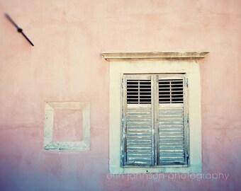 dubrovnik croatia photography, travel photography, europe wall art, window photo, europe, pink home decor D19