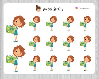 Laundry Stickers, Cleaning Stickers, Stacy Stickers