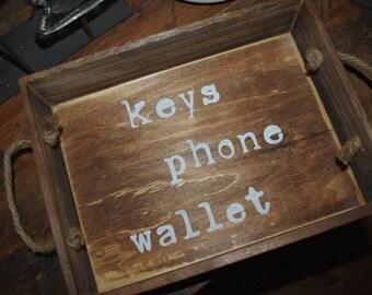 Keys, Phone, Wallet Tray