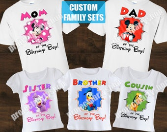 Mickey Mouse Clubhouse Family Birthday Shirts, Minnie Mouse Family Birthday Shirts, Mickey Mouse Family Birthday Shirts, Mickey and Minnie