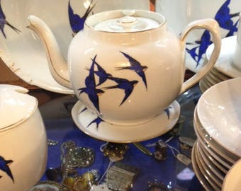 Blue Bird Large Tea Set