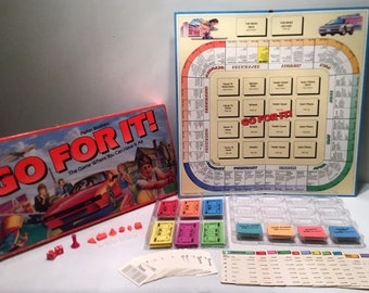 1986 Go For It Board Game By Parker Brothers Complete in Great Condition FREE SHIPPING