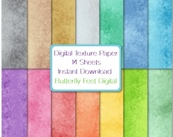 Digital Texture Paper, 14 Designs, Abstract Art, Textured Background, Scrapbook Paper, Card Making, Instant Download