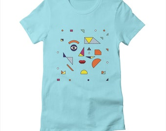 Face Modern - Women's fitted T-shirt / Tee - Women's Apparel by Oliver Lake - iOTA iLLUSTRATiON