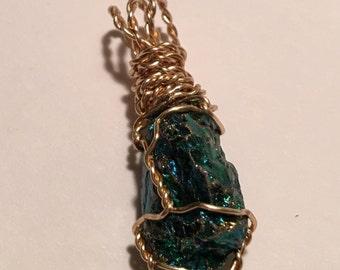 Green Metallic Stone