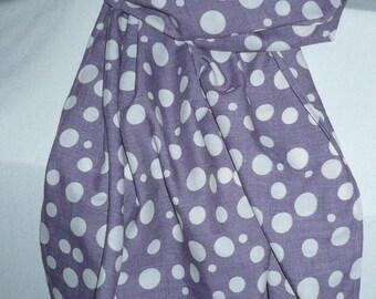 Purple shawl cotton blend printed unbleached peas