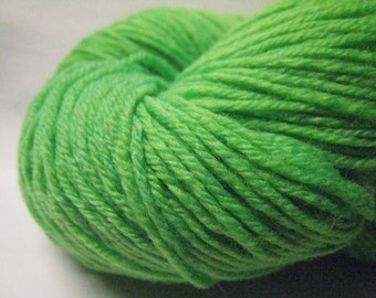 Neon Green - sock yarn - superwash merino and nylon