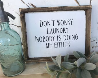 Laundry sign / laundry / mudroom / homedecor / clothing sign / laundry decor / rustic signs / wooden signs