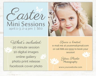 Easter/ Spring Marketing Board Mini Session Template INSTANT DOWNLOAD