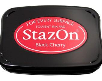StazOn Black Cherry Ink Pad