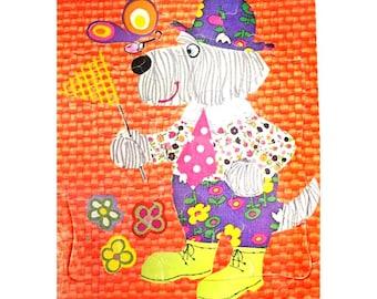 dog jigsaw puzzle - vintage puzzle decor -Retro Children's jigsaw puzzle -vintage child's puzzle - Title  Dog Catcher - 1972 puzzle - # 3