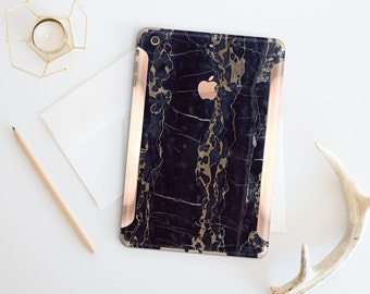 Marble Black & Bronze with Rose Gold Detailing Vinyl Skin for the iPad Air 2, iPad mini 4 , iPad Pro - Platinum Edition