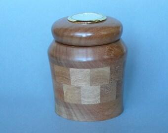 PU009 small ballot box in mahogany
