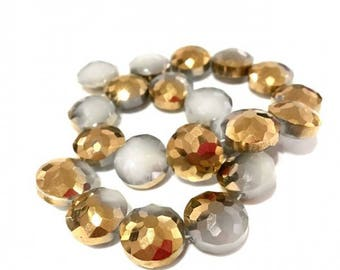 X 1 PCE glass 15 mm lentil beads