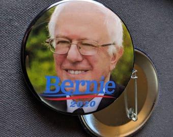 THREE Bernie Sanders 2020 Pinback Buttons