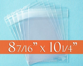 "200 Cello Bags: 8 7/16 x 10 1/4"" Inches, for 8 x 10"" Prints. Resealable Acid Free Crystal Clear Photo Packaging!"