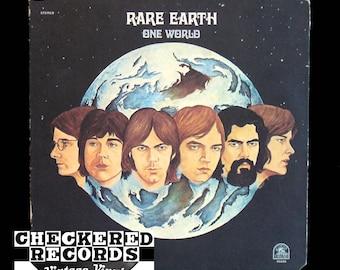 Vintage Rare Earth One World VG+ Vintage Vinyl LP Record Album