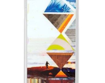 NEW iPhone 7/7+ Case, Totem Surf Love, New, Belinda Baggs, Surf, Surf Art, Wood, Longboard, Art, Avail. with Black or White case color