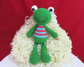Frog toy, Frog, Handmade crochet toy, Crochet frog, Stuffed Animal Frog, Crochet Stuffed Toy, Crochet Green Frog, Toy Frog