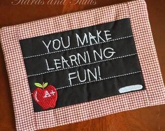 Teacher Gifts, Mug Rug, Teacher Mug Rug, Mug Rug for Teachers, Coffee Lover Gifts, School Mug Rug, Back to School, Gifts Under 25